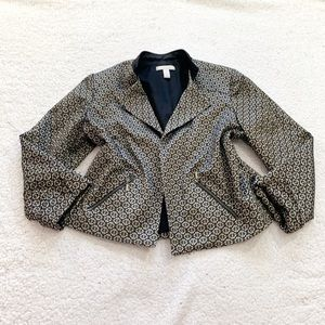 Chico's metallic blazer geometric print 3 large
